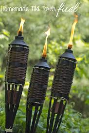 Citronella Oil Lamps Diy by How To Make Homemade Tiki Torch Fuel Tiki Torches Torches And