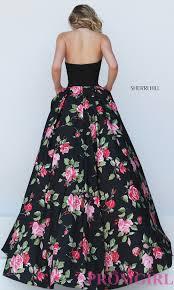 black floral print halter top dress promgirl