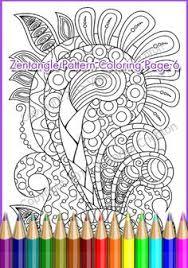 Printable Coloring Page Zentangle Pattern PDF Zendoodle Sheet Print A4 Paper