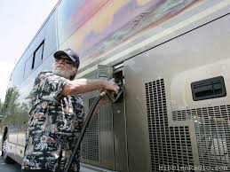 ON WILLIE'S TOUR BUS -