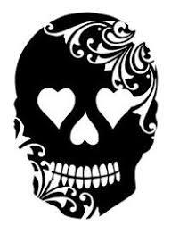 Sugar Skull Pumpkin Carving Patterns by Best 25 Skull Stencil Ideas On Pinterest Skull Silhouette The