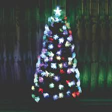 6ft Slim Christmas Tree With Lights by Kingfisher 6ft Green Fibre Optic Christmas Tree With Multi