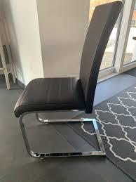 4 braune lederstühle esszimmer swing stühle zu verkaufen