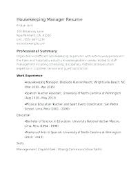 Housekeeping Resume Examples 2012 Housekeeper Resumes Hotel Executive Incredible Ideas Summary For Private Sa