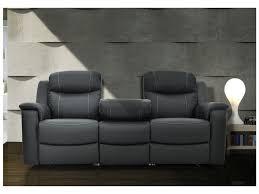 bar canapé canapés relax evasion en cuir gris ou blanc ivoire avec tablette