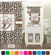 leopard print bathroom accessories set personalized potty