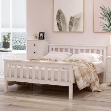 modernluxe doppelbett bettgestell 140 x 200cm hochwertiger holzbettgestell mit kopfteil und lattenrost 140 x 200 cm klassische betten holzbett für