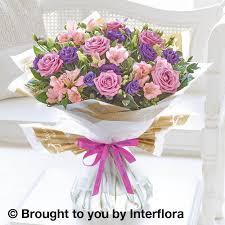 Happy Birthday Lilac Rose & Alstroemeria Hand tied