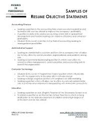 Sample Of Objective In Resume General With Objectives Example Examples