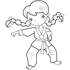 Wadokarate Potros Figuras Para Colorear Karate Y Sellos