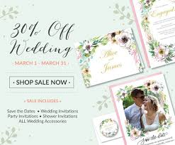 Off ALL Wedding Invitations Photo Save The Date Announcements Bridal Shower In Popular Florals Rustic Modern And Classic Styles