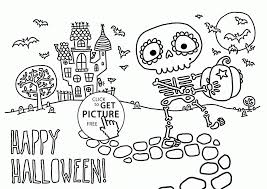Full Size Of Coloring Pageshalloween Pages For Teachers Childrens Cute Skeleton Kids Printables Large