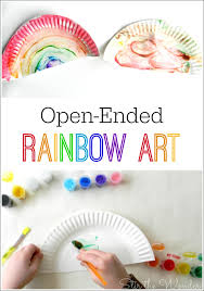 This Open Ended Rainbow Art Activity Is A Great Way For Toddlers And Preschoolers To