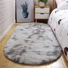icegrey shaggy teppich hochflor langflor oval tie dye teppiche farbecht pflegeleicht fš r wohnzimmer esszimmer kinderzimmer schlafzimmer bettvorleger