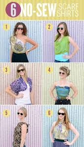 6 ways to tie a scarf as a shirt