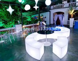 bar canapé étanche lumineux arc en forme de serpent chaises combinaison