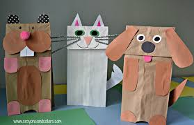 Crayons And Collars Life With Kids Pets Easy Paper Bag Puppets You Can Make Household Items