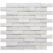 Smart Tiles Mosaik Multi by Shop Avenzo Multi Texture Brick Mosaic Stone And Glass Marble Wall