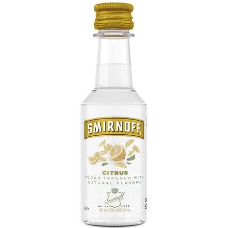 Smirnoff Citrus, 50 mL, 70 Proof (Vodka Infused With Natural Flavors)