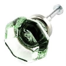 Sea Life Cabinet Knobs by Lt Green Crystal Octagon Glass Cabinet Knobs 4 Drawer Pulls