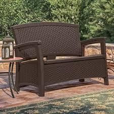 amazon com suncast elements end table with storage java garden