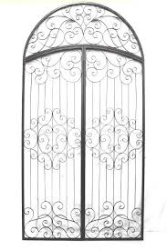 Oversized Arched Iron Wall Decor