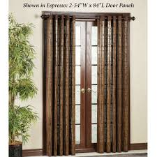 Bamboo Patio Curtains Outdoor by Bamboo Grommet Tier And Valance Window Treatment
