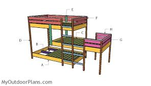 triple bunk bed plans myoutdoorplans free woodworking plans