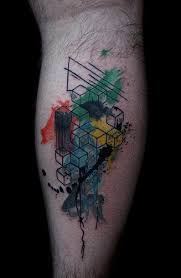 Its My Tattoo Abstract Geometric Watercolor By Deanna Wardin Boogaloo