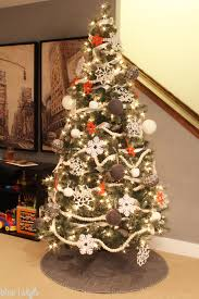 Orange Felt Snowflake Ornament