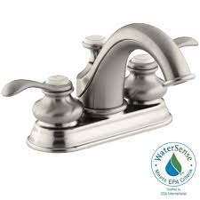 Kohler Devonshire Faucet Brushed Nickel by Kohler Refinia 4 In Centerset 2 Handle Water Saving Bathroom