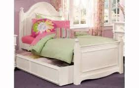 freyalados White Twin Bed with Trundle