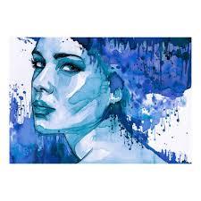vlies fototapete aquarell frau porträt sepia tapete