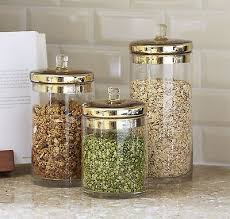 Glass Canisters Jars Kitchen Storage Canister Lids Cookie Jar Coffee Sugar Flour