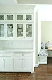 White Dining Hutch Room Built In Cabinets And Storage Design