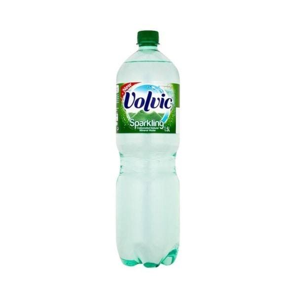 Volvic Carbonated Natural Mineral Water - Sparkling, 1.5L