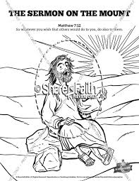 Sermon On The Mount Beatitudes Sunday School Coloring Pages