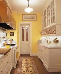 A Period Perfect Italianate Restoration Small Galley KitchensYellow