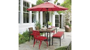 fancy rectangular patio dining table with rocha outdoor