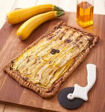 cuisiner la courgette jaune tarte courgette jaune chèvre moutarde les meilleures