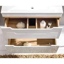 badezimmermöbel set hochglanz weiß wotaneiche luton 56 mit 80cm waschtisch led spiegel 80 200 46 cm
