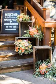 Rustic Fall Wedding Ideas With Bouquet Decorations