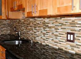 Stone Tile Backsplash Menards by Menards Kitchen Backsplash With Natural Brown Cabinet Home