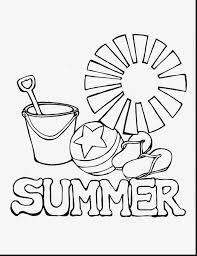 Spectacular Summer Coloring Pages With Summertime And For First Grade
