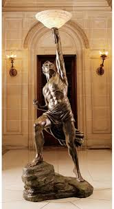 Bronze Torchiere Floor Lamp by Amazon Com 19th Century Replica Greek Mythology Titan Prometheus