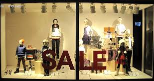 Designing A Display Window At Retail Store