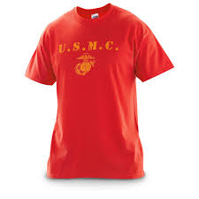 u s marine corps distressed t shirt red 578906 tactical