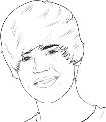 Coloring Page Justin Bieber Celebrities 26