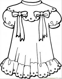 Clothes Coloring Page 20 Girly Dress