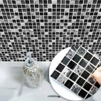 schwarz weiß mosaik fliesen aufkleber küche kaufland de